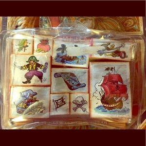 10 piece Pirate Stamp Set